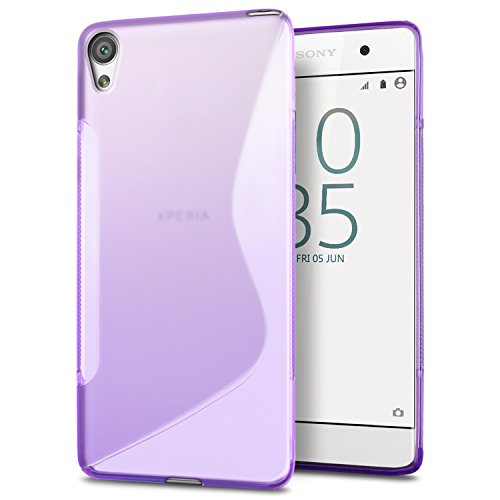 Funda Sony Xperia E5, SLEO Slim Fit TPU Carcasa de Parachoques Case Traslúcido Suave con Absorción de Impactos y Resistente a los Arañazos para Sony Xperia E5 - Claro Púrpura