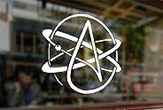 25 Centimeters Atheist Symbol Atomic Vinyl Stickers Funny Decals Bumper Car Auto Computer Laptop Wall Window G