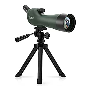 Emarth 20-60x60AE Waterproof Angled Spotting Scope with Tripod, 45-Degree Angled Eyepiece, Optics Zoom 39-19m/1000m for Target Shooting Bird Watching Hunting Wildlife Scenery