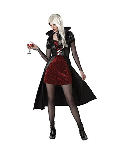 California Costumes Women's Blood Thirsty Beauty Costume, Black/Burgundy,X-Large]()