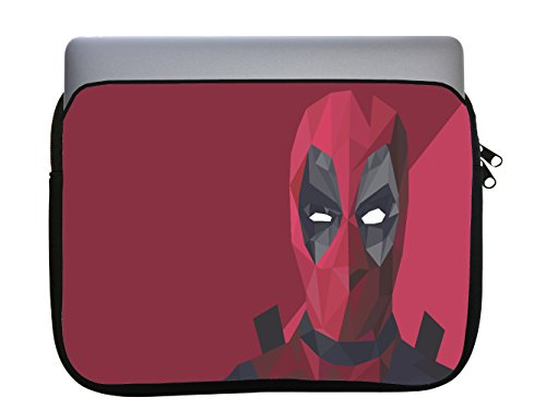 Polygon Comic Book Hero Design 11x14 inch Neoprene Zippered Laptop Sleeve Bag by egeek AMZ for MacBook Or Any Other Laptop by egeek amz