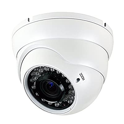 Anpviz Analog CCTV Camera HD 1080P 4-in-1(TVI/AHD/CVI/CVBS) Security Dome Camera, 2.8mm-12mm Varifocal Lens, True Day & Night Monitoring IP66 (White) by Anpviz