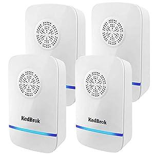 KedBrok 4 Pack Antizanzare Ultrasuoni, Repellente ad Ultrasuoni Anti Zanzare Dispositivi Antizanzare Insetti Ragni Topi… 4 spesavip