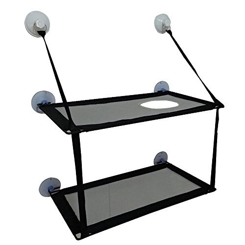 """BobbyPet Big Cat Window Perch for Multi Cats - Double Stack 12.5""""x23.2"""". EXTERMELY Durable suction cups can holds HUGE CATS"""