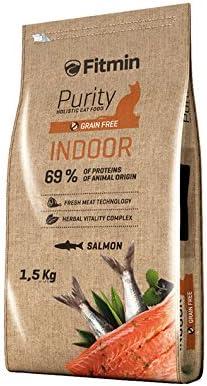 Fitmin Alimentación Cats Purity Indoor. Alimento Completo para Gatos Adultos Que Permanecen Preferentemente O Siempre En El Interior De Las Casas