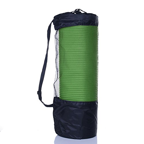 Masione Yoga Mat 10mm Thick NBR Nonslip Pilates Workout Fitness Mats Durable with Carry Strap&Bag (Green, 72240.4″) Review
