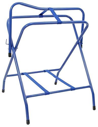 Tough-1 Folding Floor Saddle Rack w/Web Bottom