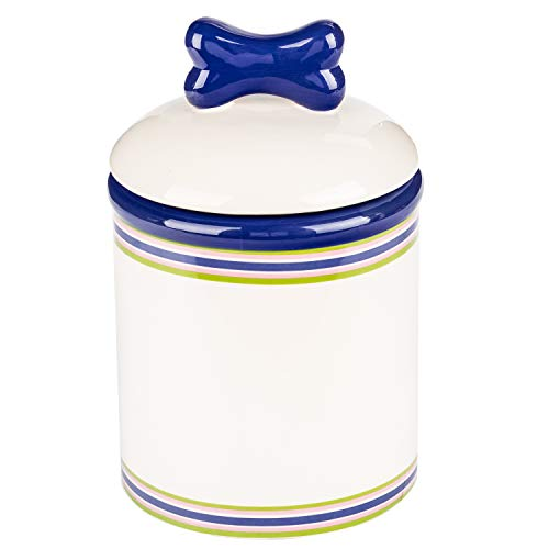 (Creature Comforts Ceramic Treat Jars Collection - Extensive Selection of Beautiful, Stylish Food Storage Container for Dogs, Cats and Pets - Option to Customize and Personalize)