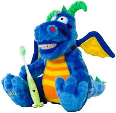 StarSmilez Kids Tooth Brushing Buddy- Lil Plush Dragon