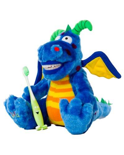 StarSmilez Kids Tooth Brushing Buddy- Lil Plush Dragon Dragon Toothbrush