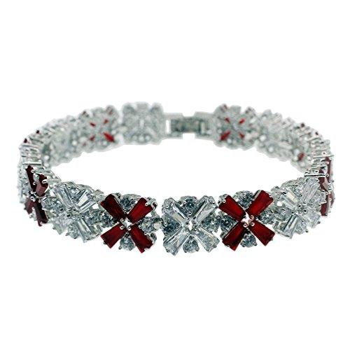 Vanessa Gemstone Tennis Bracelets for Women,Sapphire Garnet Emerald Amethyst Morganite Peridot White Topaz Bracelets 7