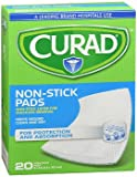 Curad Medium Non-Stick Pads 3 Inches X 4 Inches 20 Each (Pack of 4)