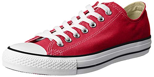 Converse Unisex Chuck Taylor All Star Low Top Red Sneakers - US Women's 8.5 B(M) / US Men's 6.5 D(M) (Women Converse Red)