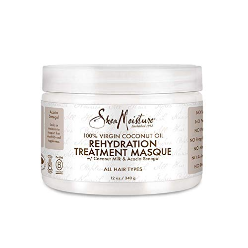 Shea Moisture 100 Percent Virgin Coconut Oil Rehydration Treatment Masque for Unisex Masque, 12 Ounce
