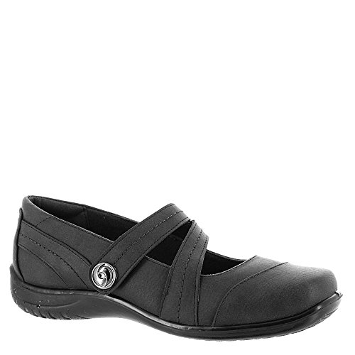 Easy Street Women's Mary Jane Flat Black 10 N US