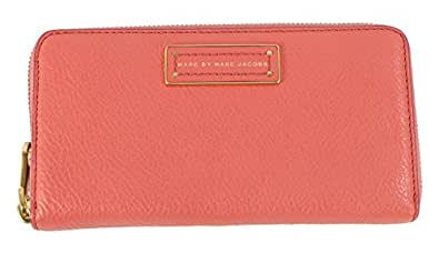 Marc Jacobs Too Hot To Handle Large Zip Around Wallet in Rose Bush