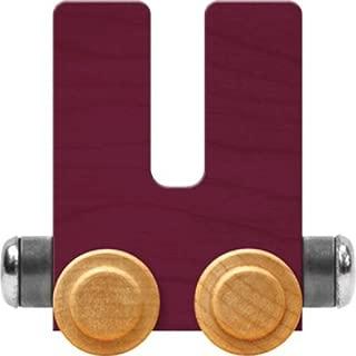product image for Maple Landmark NameTrain Bright Letter Car U - Made in USA (Purple)