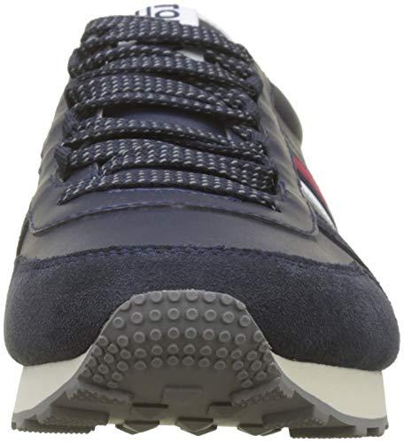 Ink Basse da Runner Sneaker 006 Scarpe Denim Ginnastica Hilfiger Blu Uomo Retro Oq0w7nv