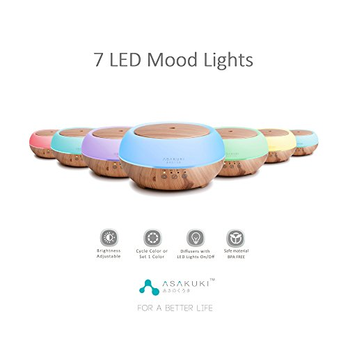 2017-ASAKUKI-Premium-Touch-Sensitive-Essential-Oil-Diffuser-300ML-5-In-1-Ultrasonic-Aromatherapy-Fragrant-Oil-Vaporizer-Purifies-and-Humidifies-The-Air-Auto-Off-Safety-Switch-7-LED-Light-Colors