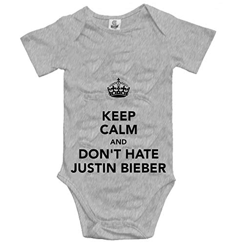 Baby Keep Calm and Don't Hate Justin Bieber Bodysuits Short Sleeve Rompers Outfits Summer Clothes -
