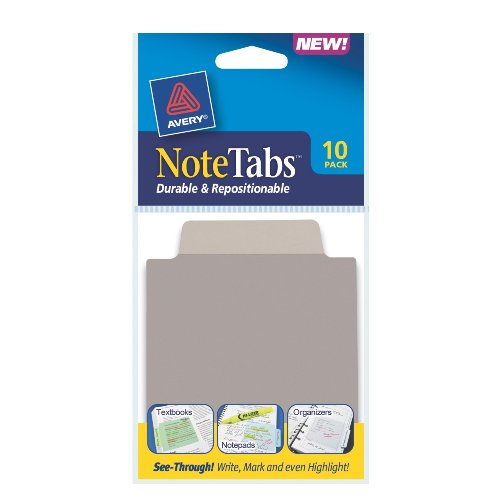 Avery NoteTabs, 3 x 3.5 Inches, Taupe, 10 per pack (16320)