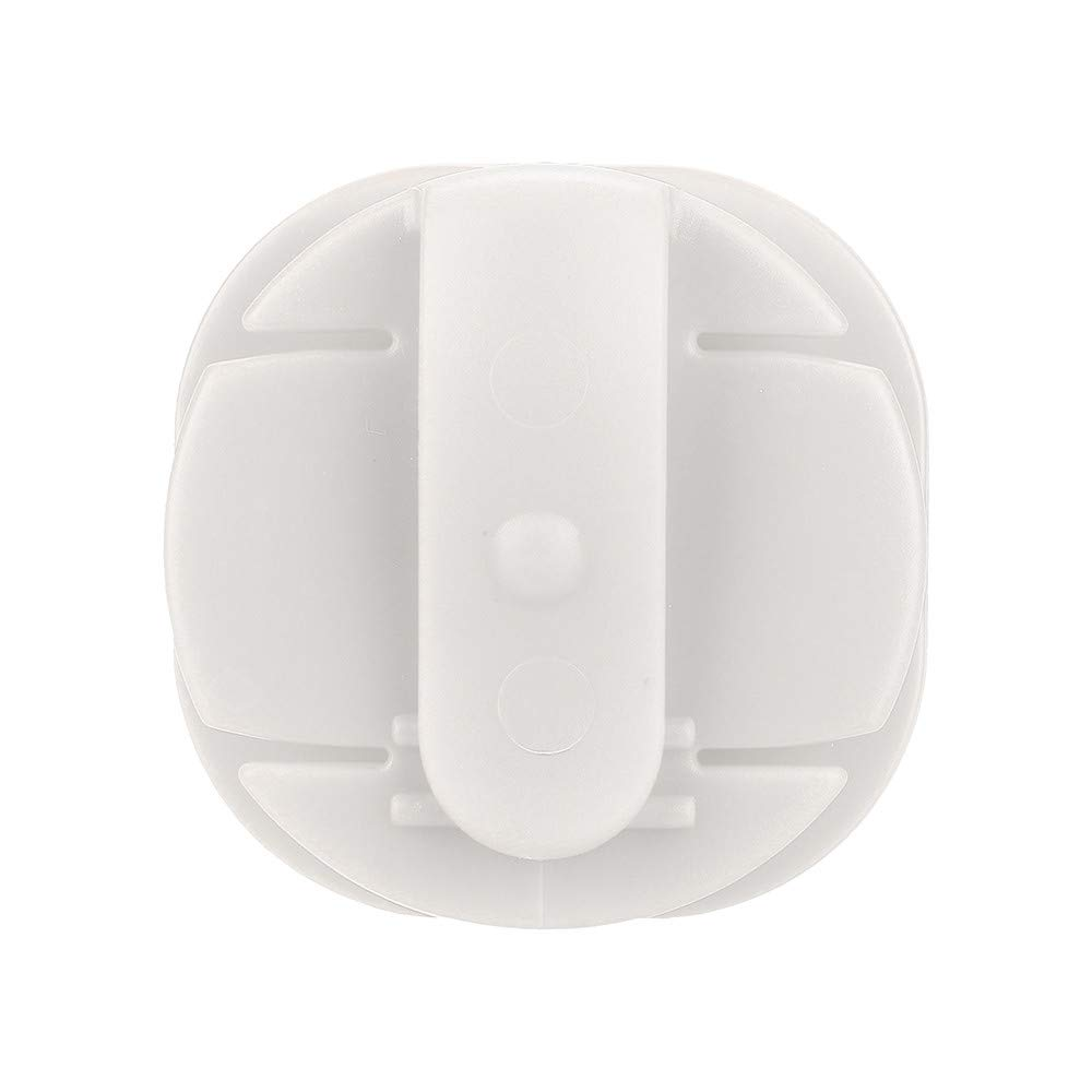 ZTY66® PC Mini Silicone Earphone Holder Carrying Hard Case Winder Stretch Earbud Storage (White)
