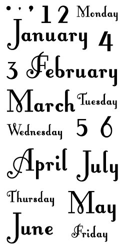 Inkadinkado Months Days Clear Stamps