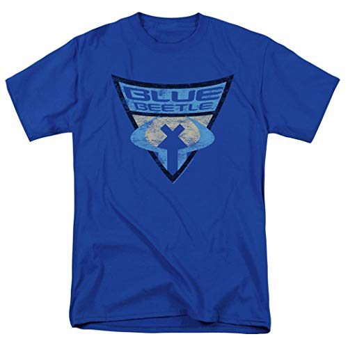 Popfunk Batman: The Brave and The Bold Blue Beetle Shield T Shirt & Exclusive Stickers (X-Large)
