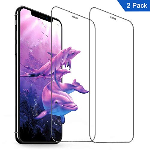 iPhone Xs Max Screen Protector (2 Pack),Sky Castle 6.5 inch Ultra Thin Tempered Glass Screen Protector Anti Scratch HD Clarity 9H Hardness for iPhone Xs Max 2018