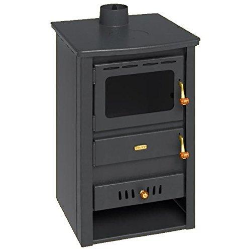 Caldera de leña estufa Prity, Modelo K22 CP W10, salida de calor 15 kW, hierro fundido placa superior: Amazon.es: Bricolaje y herramientas