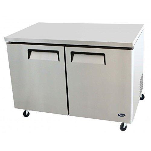 Undercounter Silver Refrigerator (Atosa MGF8403 60'' Undercounter-Refrigerator)