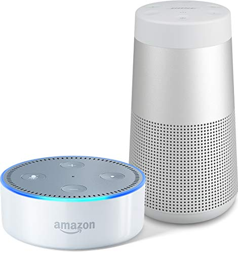 [해외] AMAZON ECHO DOT (NEW모델)고, 화이트 + BOSE SOUNDLINK REVOLVE BLUETOOTH SPEAKER 룩스 그레이