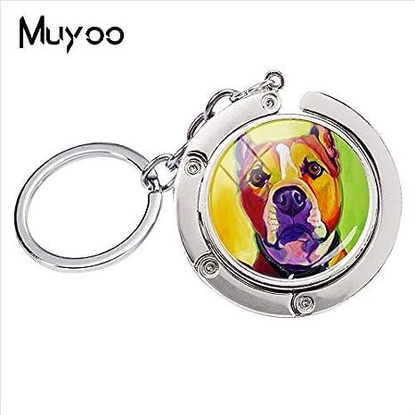 Amazon.com: YPT - Llavero con forma de pit Bull para perro ...