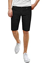 Men's Super Comfy Stretch Flex Slim Fit Denim Twill 11 inch Shorts