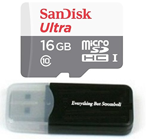 16GB 16G Class 10 Sandisk Micro SDXC Ultra MicroSD TF Flash Memory Card for AKASO X5C 4CH 2.4GHz Quadcopter Drone Camera w/ Everything But Stromboli Memory Card Reader