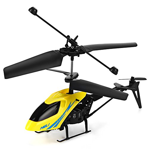YOOYOO Mini RC Helicopter Shatter Resistant 2.5CH Flight Toys with Gyro System (Rotors Helicopter Control Remote Mini)