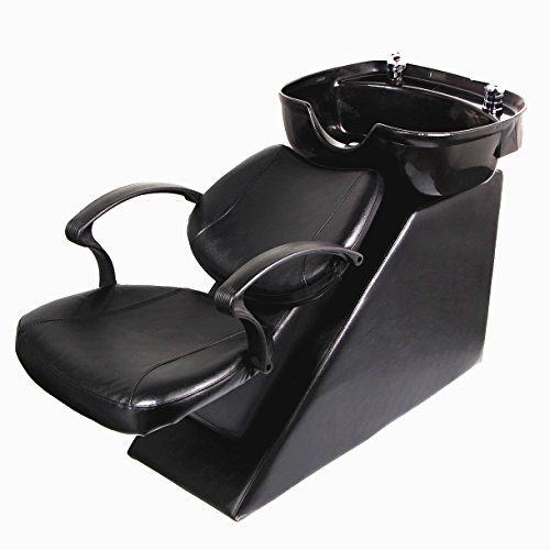 U-MAX Shampoo Chair Backwash Sink Adjustable Footrest Salon&Spa barber Chair (Basic)