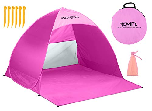 - Pop Up Beach Tent Shelters - Lightweight Portable Cabana Sunshade for Privacy & Cool Shade Canopy - Great for Baby, Adults, Kids, Camping - Tents Quick Set Up Provides Instant Sun Shelter (Pink)