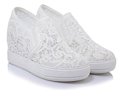 Compensé Aisun Sneakers Talon Dentelle Classique Femme PqwIrvSI68