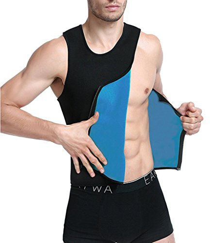 NINGMI Neoprene Slimming Vest Sweat Sauna Suits Gym Mens Weight Loss (Wear Suit Vest)