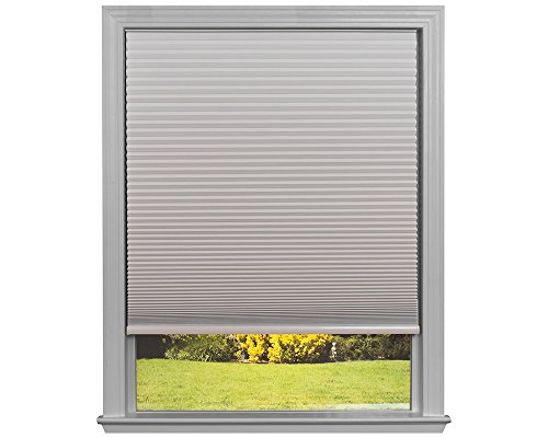 Easy Lift Trim-at-Home Cordless Cellular Blackout Fabric Shade Natural, 60 in x 64 in, (Fits windows 43
