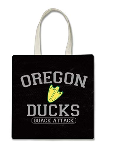 Oregon Ducks Quack Attack Printed Tote Bag, 14.5x15
