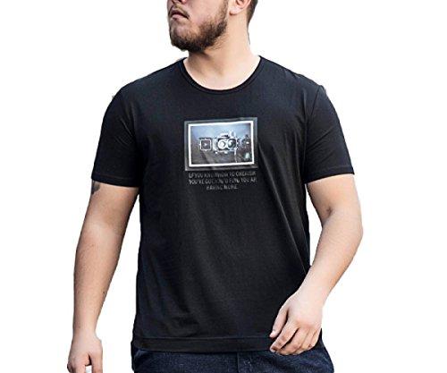 Cómoda Verano Casual Negro Con Algodón Manga Efecto Hombre Corta Llevar De Para Transpirable Camiseta 0xq8YY