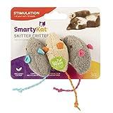 SmartyKat Catnip juguetes para gatos, Critter Critter, Gray, Beige, Paquete de 3