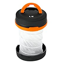 LE Collapsible LED Camping Lantern flashlight, Dual Purpose, 3 Modes, Battery Powered, Water Resistant, Home, Garden and Camping Lanterns for Hiking, Emergencies, Outages