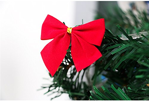 amazoncom christmas ornaments pretty bow tie christmas tree ornaments christmas pendant tree decor 24pcs red office products - How To Tie Decorative Bows For Christmas Decor