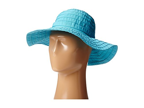 General Cancer Ribbon - SCALA Women's Sewn Ribbon Crusher Hat, Turquoise, One Size