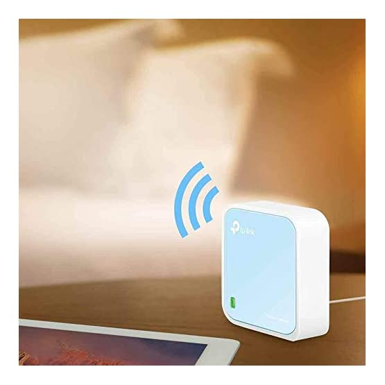 TP-Link Wireless N300 Travel Router, Nano Size, Router/AP/Client/Bridge/Repeater Modes, 300Mbps, USB Powered (TL-WR802N) 41ZfD5b0UTL. SS555