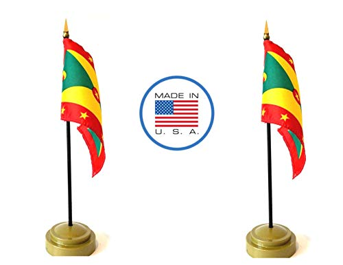 (Made in The USA Flag Set. 2 Grenada Rayon 4