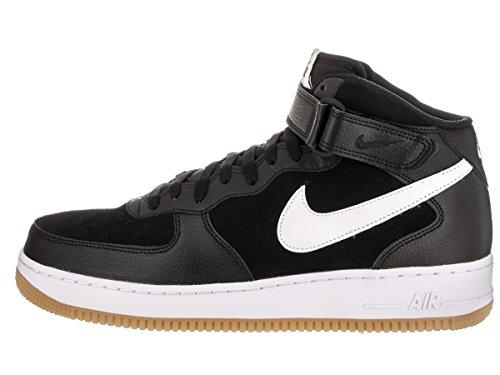 Nike Mens Luchtmacht 1 Midden 07 Zwart / Wit / Gom Med Bruin Basketbalschoen 13 Heren Ons